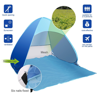 2-3 Person Pop up beach tent sun shelter,Pop Up Portable Family Beach Tent