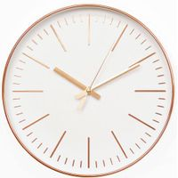 12 inch rose goled living room wall clock