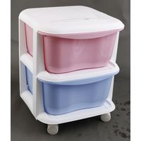 Colorful Various Sizes Plastic Storage Case with wheels two floor