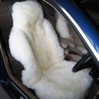 2014 Top Grade Long wool Sheepskin Car Seat Cover , New Design,universal size,OEM service provided