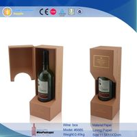 made in china wholesale manufacturer  leather wine box