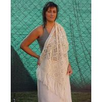 Ecological cotton shawl