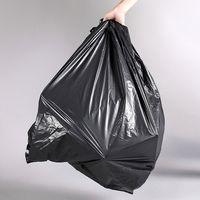 LDPE Black Plastic trash bag heavy duty garbage bags