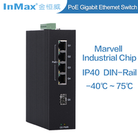 5 ports Full Gigabit Unmanaged PoE Industrial Ethernet Switch P505A