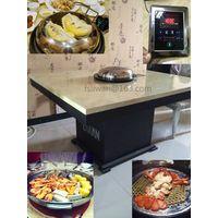 Seafood steam hotpot table, Liwan steam hotpot device, restaurant steam hotpot furniture. thumbnail image