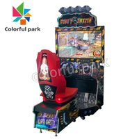 Colorful Park Indoor Car Electronic Driving Simulator Racing Moto Arcade Game Machine for Sale