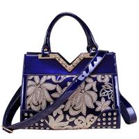 Aristocratic Women Bag Handbags Patent Leather Lady Shoulder Bag Party Bag