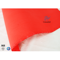 Flame Retardant C-glass Silicone Coated Fiberglass Fabric 590g Red Color thumbnail image