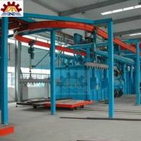 Step Overhead Monorail Conveyor Shot Blasting Machine