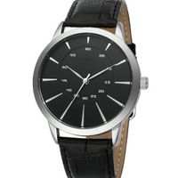 Classic Men Watch with 2 layer dial and PU strap