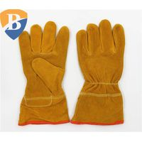 Cow split leather welding glove safety work glove thumbnail image