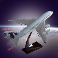 Decorative Airplane Model OEM Airbus 380 Qatar Airways Static Model Aircraft Direct Sales for Souven