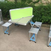 multipurpose Portable Aluminum Folding picnic table 4 seats