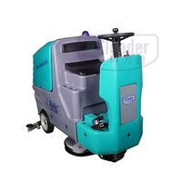 high efficient driving type floor scrubber
