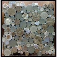 Glass and marble mix mosaic