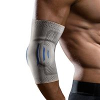 Sport knitted elbow brace with silicone pad