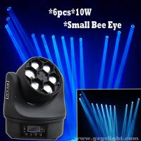 Disco RGBW 4in1 6pcs10W LED Stage Moving Head Beam Light with Small bee eye