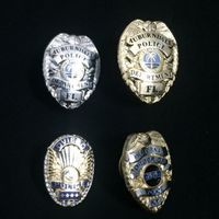 Custom Police Sheild Lapel Pin Badge