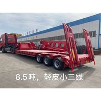 2 Axles 25 Tons Low Bed Trailer With Air Suspension