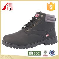 make your own brand PU fashion men leather boot