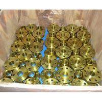 ASTM A105 Golden Weld Neck Flanges, Golden Painting, SCH STD, 150 LB thumbnail image