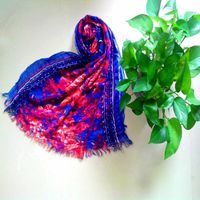 Fashion Long Cotton Voile Floral Shawl Scarf Wrap Stole For Girls thumbnail image