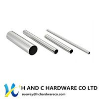 Chrome Steel Wardrobe Round Tube