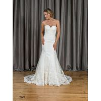 Mermaid & Trumpet Sweetheart Zipper Lace Wedding Dress W29