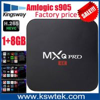 2016 newest preinstalled kodi android 5.1 mxq pro 4k root access android smart tv box