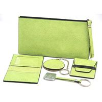 cosmetic bag with card holder&key chain and mirror