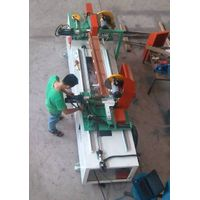 double cutting machine for finished wooden venetian blinds