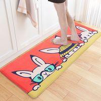 High Quality Carpets Anti-slip Thicker Doormat Polyester Cartoon Rabbit Floor Mats Bedroom Rugs