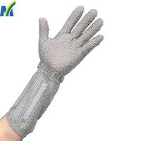 Stainless Steel Wire Mesh Cut Resistant Gloves