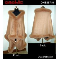 Cashmere shawl with fox trming thumbnail image