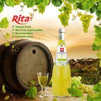 1000ml Glass Bottle Grape Flavor Basil Seed Juice Drink