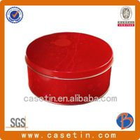 chinese manufacturer metal round cookie tin box with CMYK printing