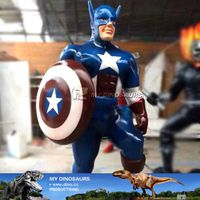 Life size fiberglass movie character