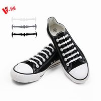 Black Bat Shoelaces Silicone No-Tie Slip on Laces 16pcs/pair
