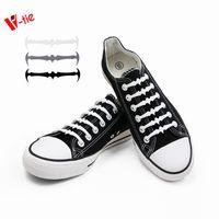 Black Bat Shoelaces Silicone No-Tie Slip on Laces 16pcs/pair