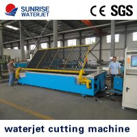 easy operating waterjet cutting machine with roll-over table for granite cutting