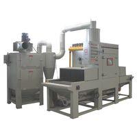 Automatic belt conveyer air blast machine