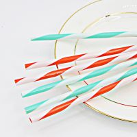 Wholesale high quality multipurpose colored striped plastic straw thumbnail image