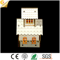 battery operated 5LED lighted house with big ben wooden bridge light christmas holiday lighting