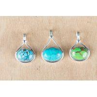 Wholesale Natural Handmade Sterling Silver Gemstone Pendant Jewelry