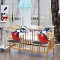 Sturdy Furniture Hardware Ball Casters Swivel Type