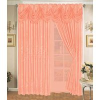 Polyester Sheer Embroidery Curtain with Lining thumbnail image
