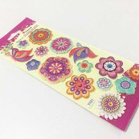 Hot Selling Puffy Stickers for Kids Environmental Protection Glitter Puffy Sticker
