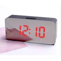 LED Mirror Alarm Clock Digital Snooze Table Clock Temperature Display thumbnail image