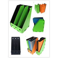 High quality Eco-friendly hot selling PP foam file folder vertical desk top 3 layers magazine file