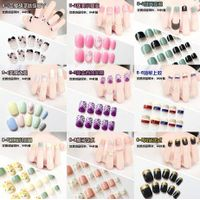 24pcs Pre Design Fake Nails Press-on Nails Glued Artifical Nail Set